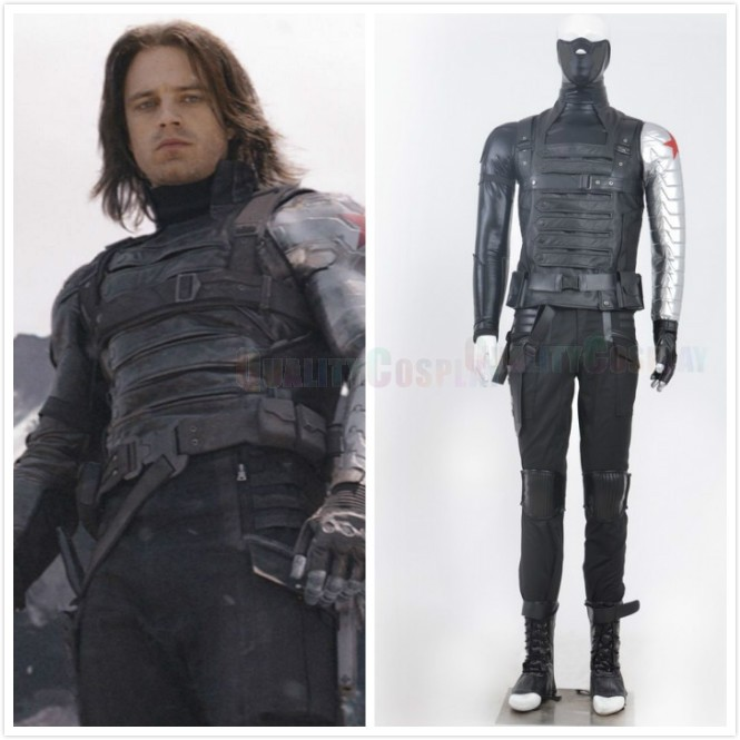 Captain America: The Winter Soldier Bucky Barnes Cosplay Costumes
