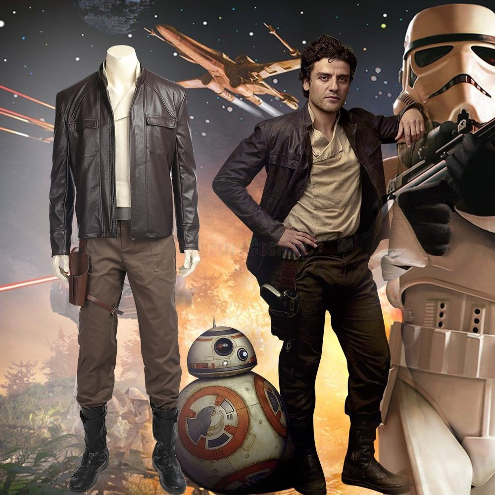 Star Wars 8 The Last Jedi Poe Dameron Cosplay Costume