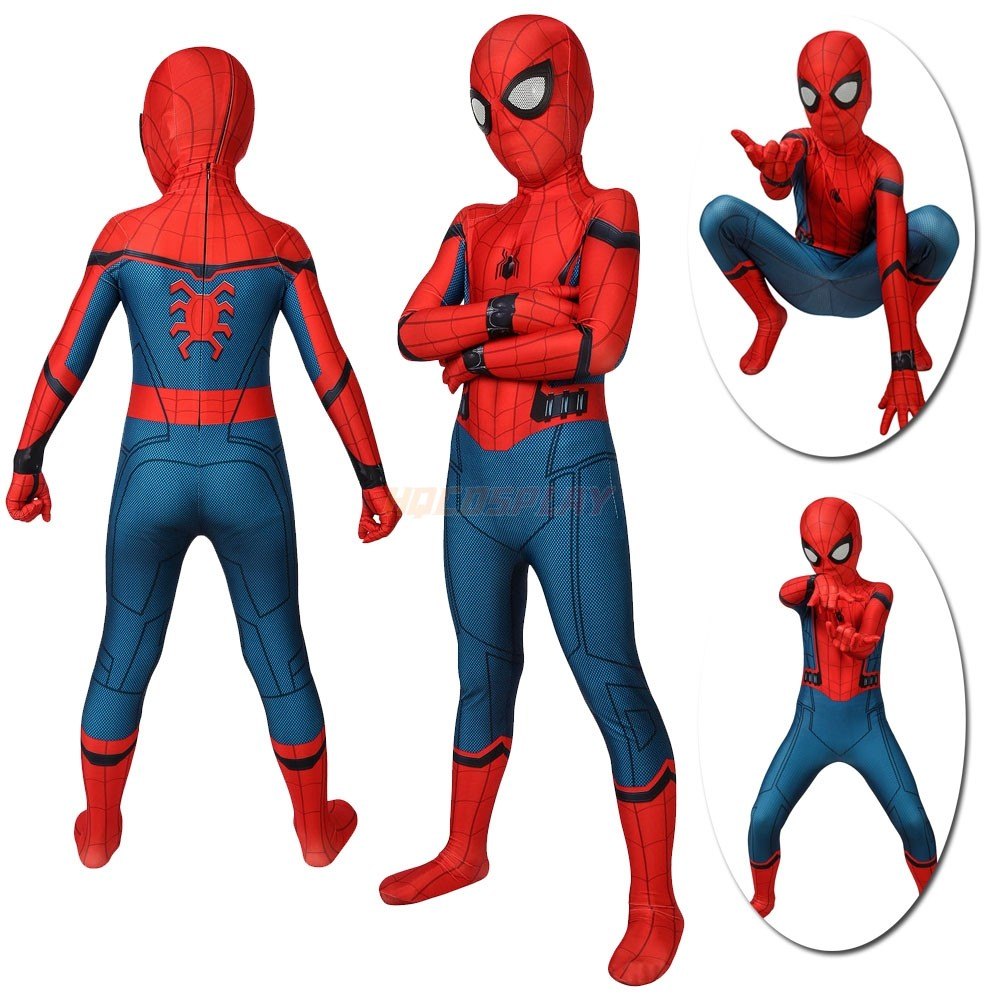 Kids Spider-Man Homecoming Cosplay Suits  Spider-Man Far From Home Spandex Costumes