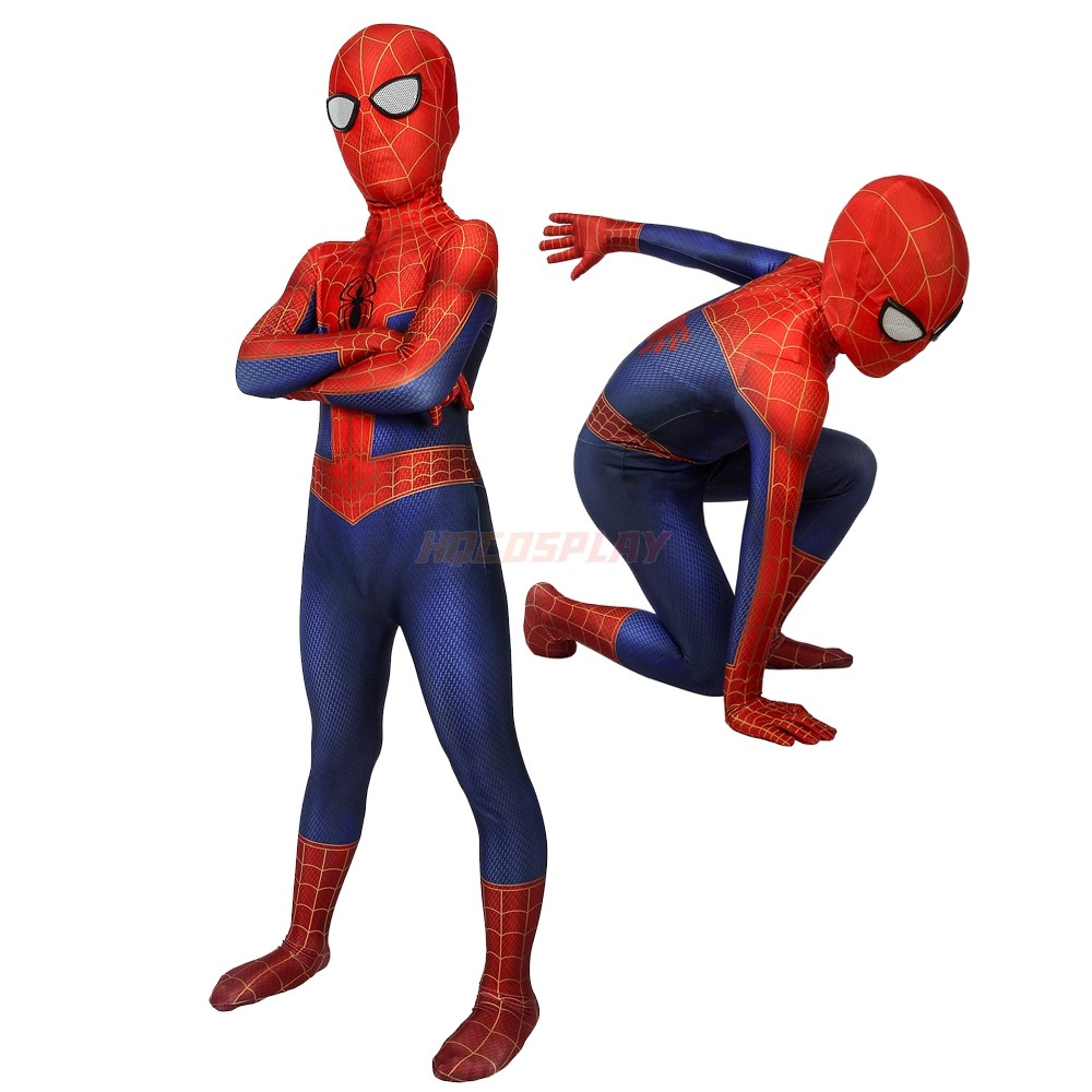 Kids Spider-Man Into the Spider-Verse  Peter Parker Cosplay Costume