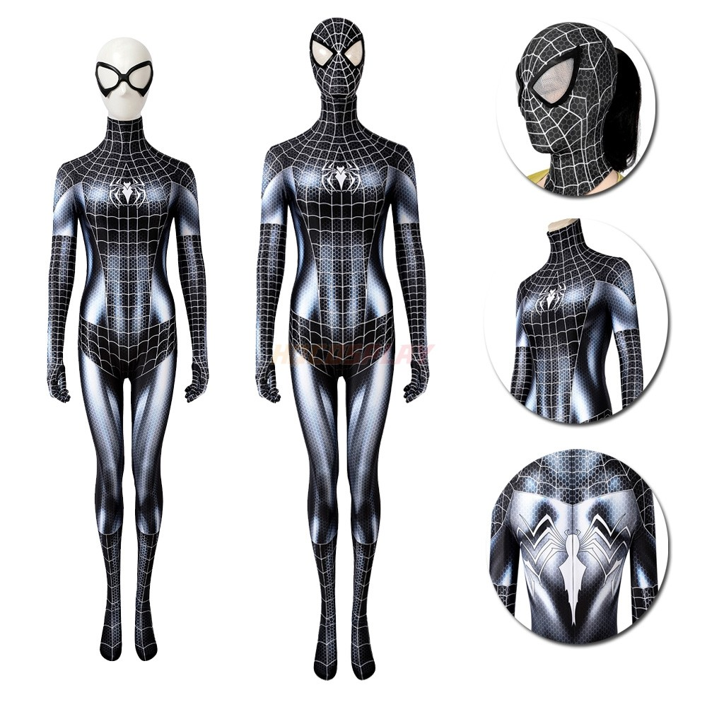 Spider-man Back Cat Female Classic Spandex Cosplay Suits