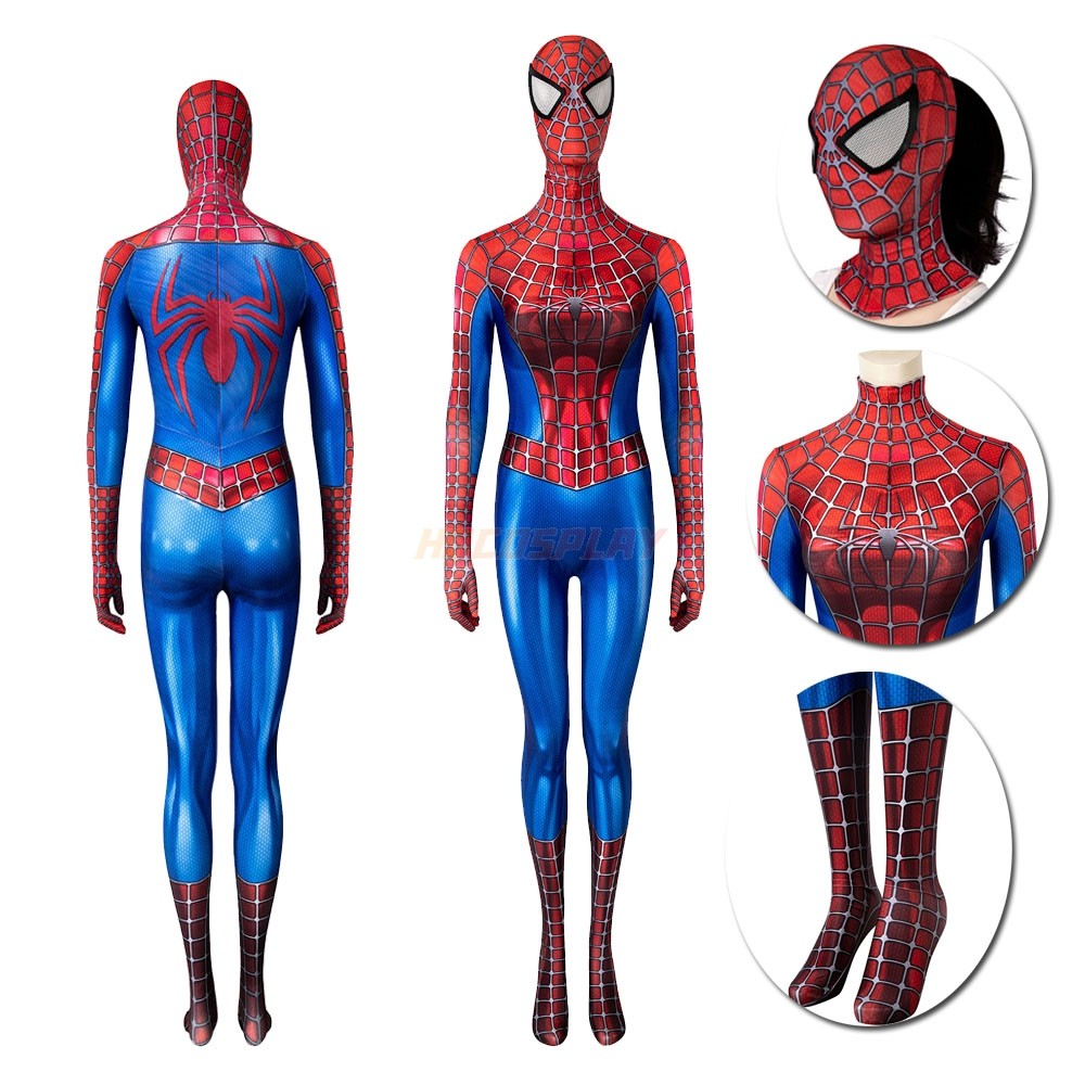 Spider man Tobey Maguire Cosplay Costume Spandex Female Suit