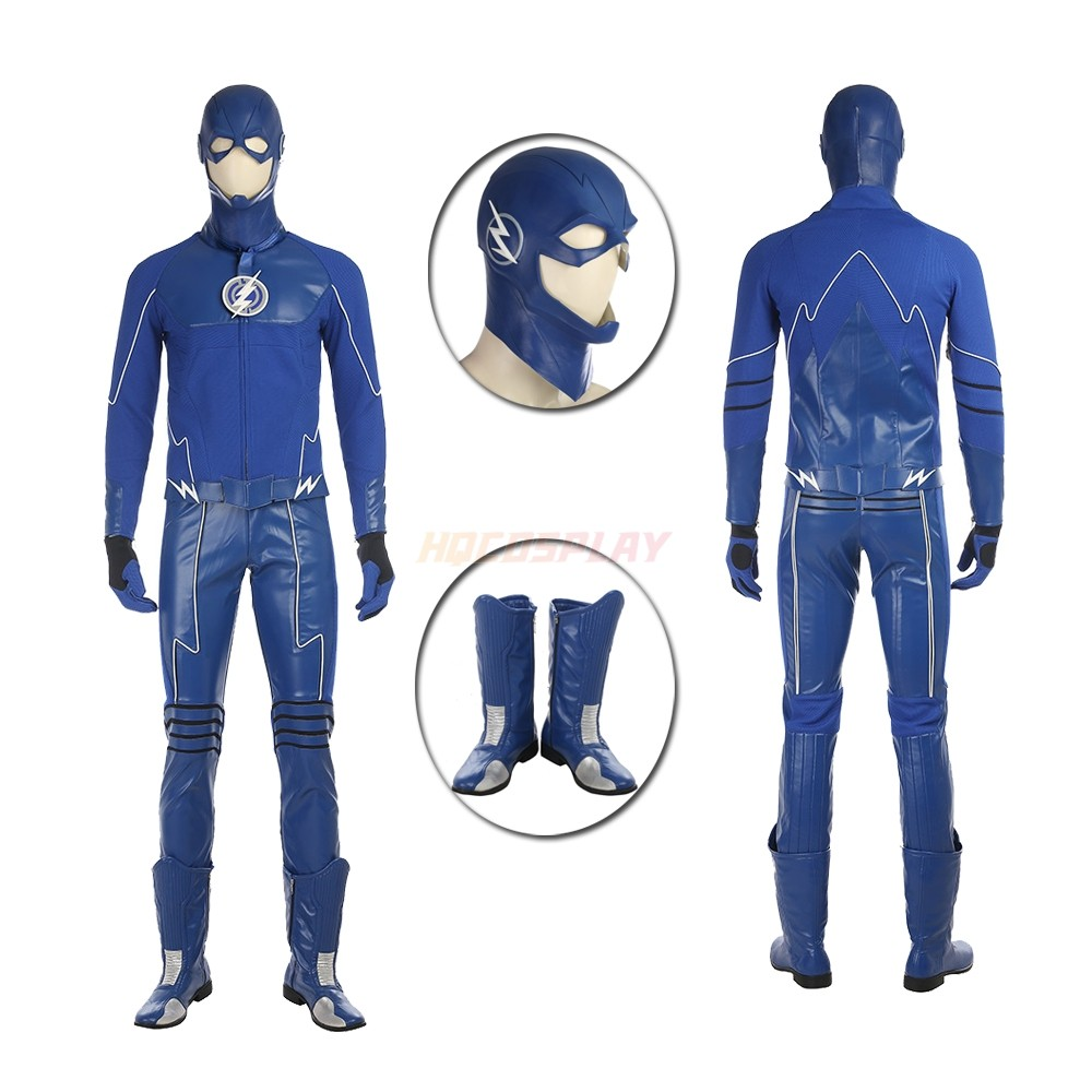The Future Blue Flash Cosplay Costume Deluxe Full Suit