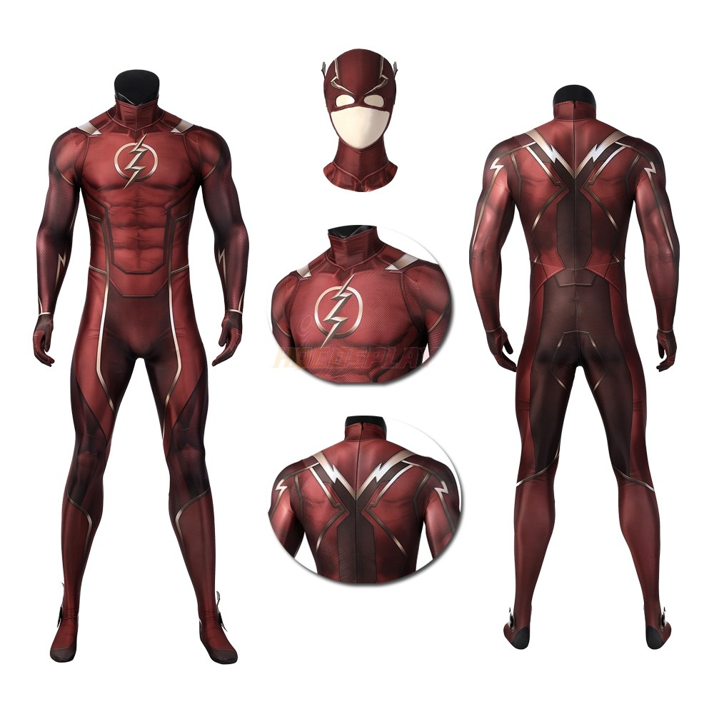 Injustice 2 The Flash Spandex Cosplay Jumpsuit