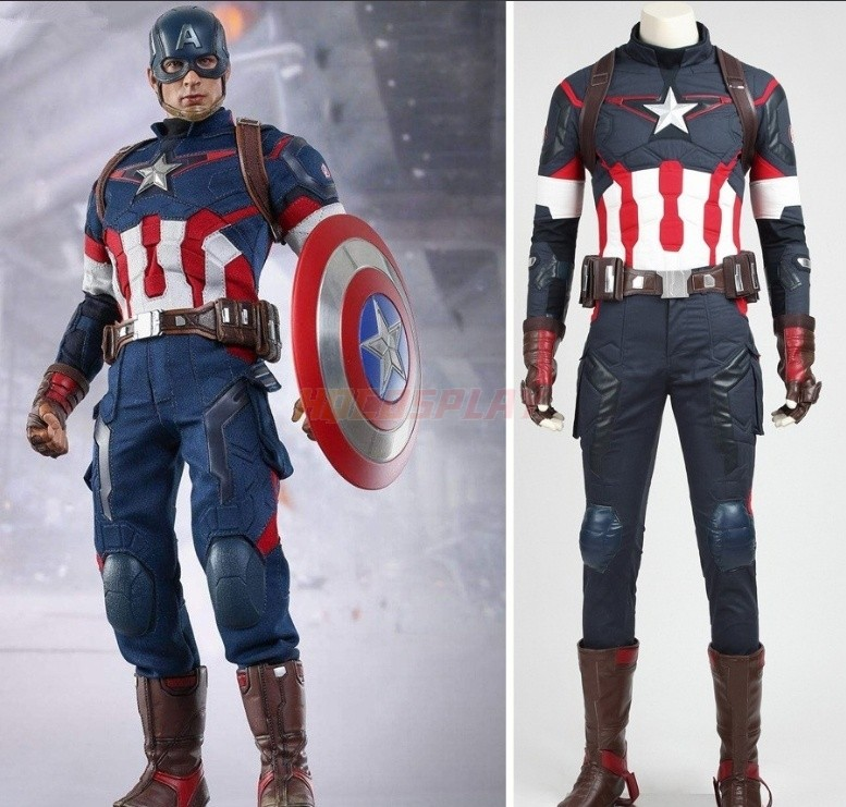 Avengers 2 Age of Ultron Captain America Cosplay Costumes