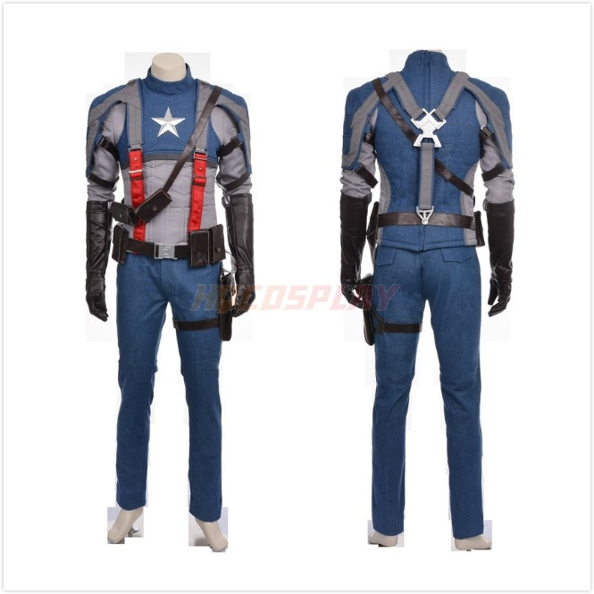 Captain America Steve Rogers Cosplay Costumes Upgraded Version 2