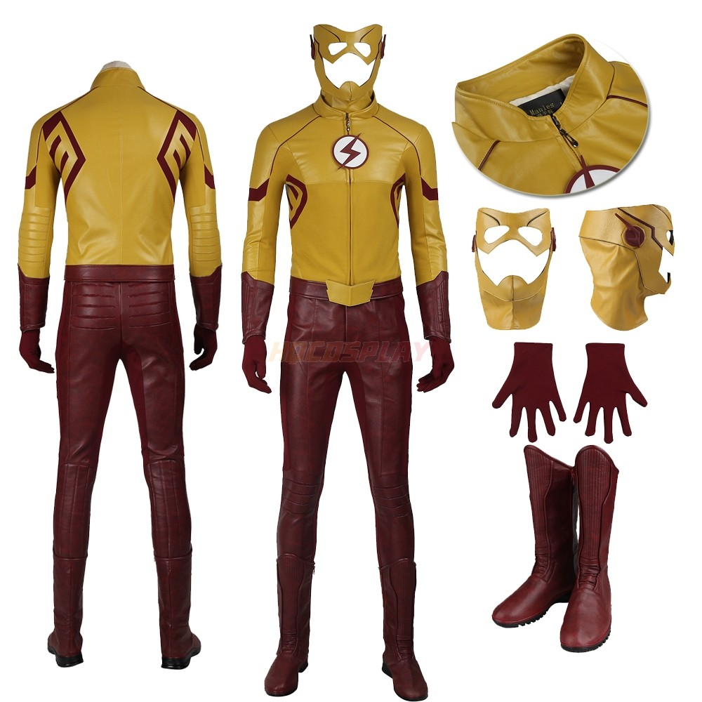 The Flash S3 Wally West Cosplay Suits Kid Flash Cosplay Costumes
