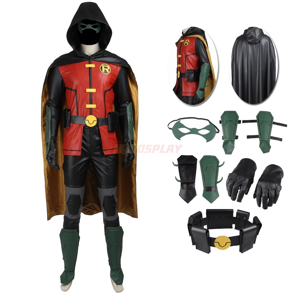 Justice League VS. Teen Titans Robin Cosplay Costumes