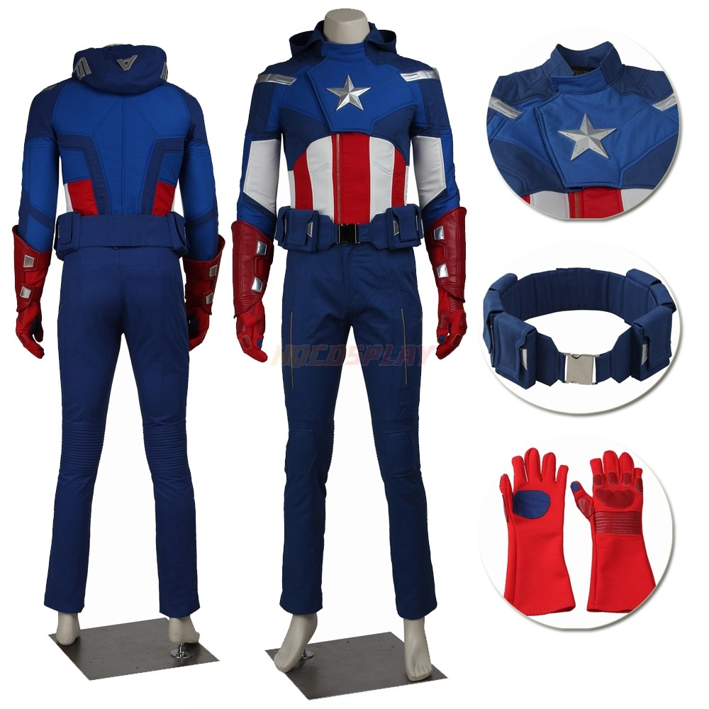 Captain America Steven Rogers Cosplay Suit The Avengers 1 Cosplay Costumes