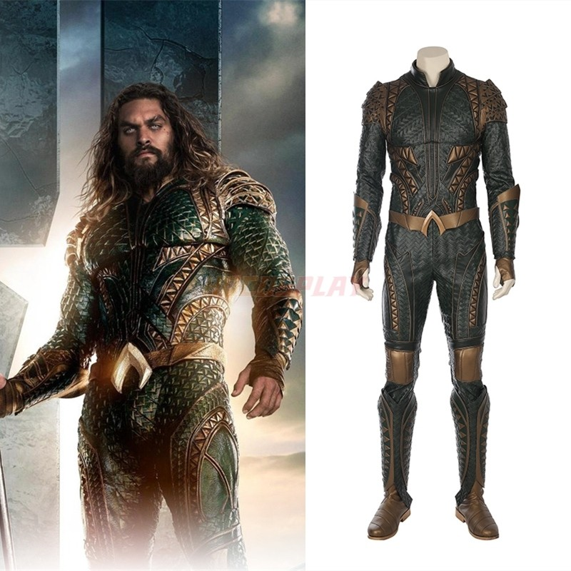 Justice League Aquaman Orin Arthur Curry Cosplay Costumes Deluxe Full Set