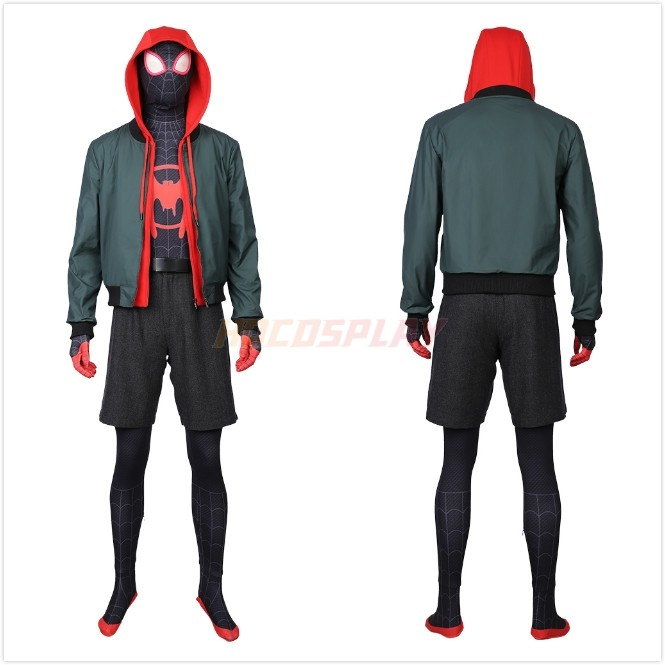 Spider-Man: Parallel World Miles Morales Cosplay Costume Outfit