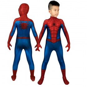 Kids Spider-man PS4 3D Printed Classic Red and Blue Cosplay Suit