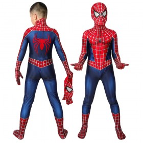 Kids Spider-man Peter Parker Classic Red and Blue Cosplay Costume