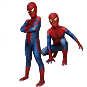 Kids  Spider-man Cosplay Costume The Amazing Spider-Man Peter·Parker Spandex Suit