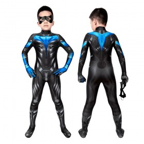 Titans Nightwing Suit for Kids Halloween Cosplay Costumes