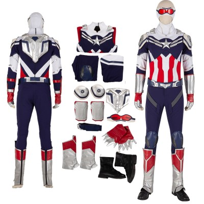 The Falcon Captain America Sam  Wilson Knitting Edition Cosplay  Suits