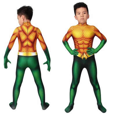 Kids Aquaman Arthur Curry Spandex Cosplay Suits