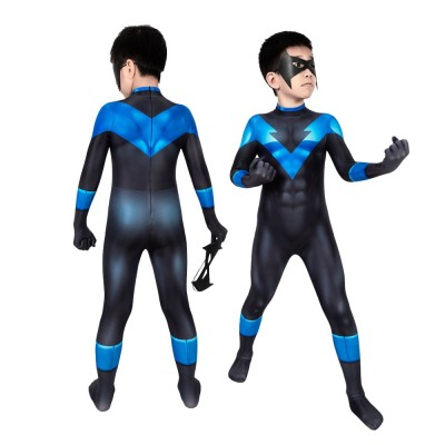 Batman Nightwing Suit For Kids Batman Under the Red Hood Cosplay Costumes