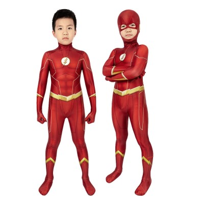 Kids The Flash Cosplay Suit The Flash Season 6 Barry Allen Red Cosplay Costumes