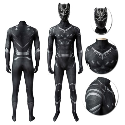 Captain America  Black Panther  T'Challa 3D Cosplay Costume
