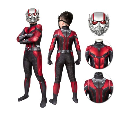 Kids Ant-Man Cosplay Suit Ant-Man and the Wasp Spandex Cosplay Costume