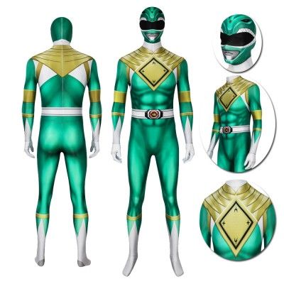 Green Ranger Tommy Cosplay Suit Power Rangers Spandex Costumes