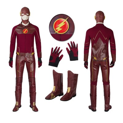 The Flash Season 1 Barry Allen Cosplay Costumes Upgraded Version
