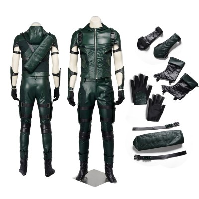 Green Arrow Season 4 Oliver Queen Cosplay Costumes with no Horizontal Bars on the Hip
