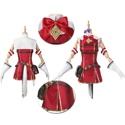 Anime Pretty Derby  Gold Ship Red Cosplay Costume