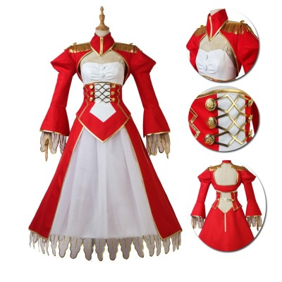 Fate/EXTRA Nero Claudius Red Cosplay Suits