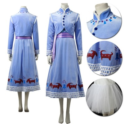 Olaf's Frozen Adventure Anna Cosplay Dress-Up Costumes