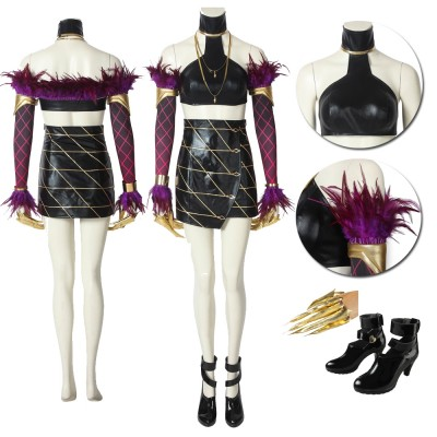 League of Legends  LOL KDA  Evelynn Cosplay Costumes