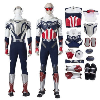 The Falcon Sam Wilson Cosplay Suit Captain America Cosplay Costumes