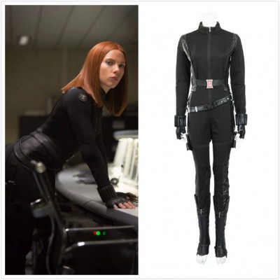 Captain America: The Winter Soldier Black Widow Cosplay Costumes
