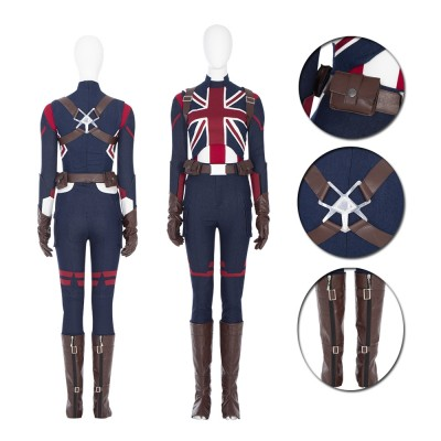 Marvel Super Hero Captain Carter What If Cosplay Costume