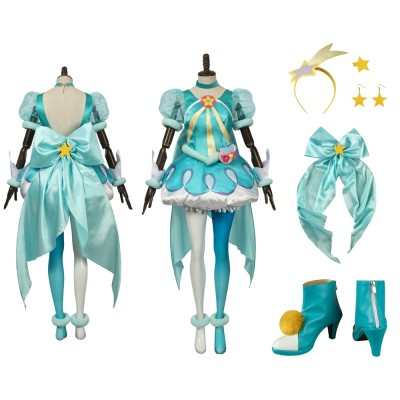 Star Twinkle Pretty Cure Hagoromo Lala Cure Milky Cosplay Costume