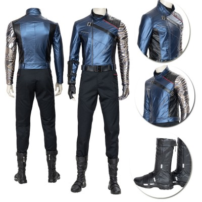 Top Quality The Falcon Winter Soldier Blue Cosplay Suit Costumes