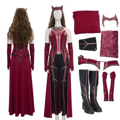 Scarlet Witch Wanda Vision Cosplay Red Suit  2021 New Cosplay Costumes