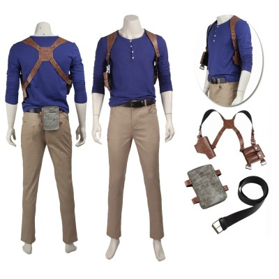 Game Uncharted 4 A Thief's End Nathan Drake Cosplay Dress Up Costumes
