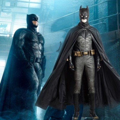 Justice League Batman Bruce Wayne Cosplay Costume Deluxe Outfit