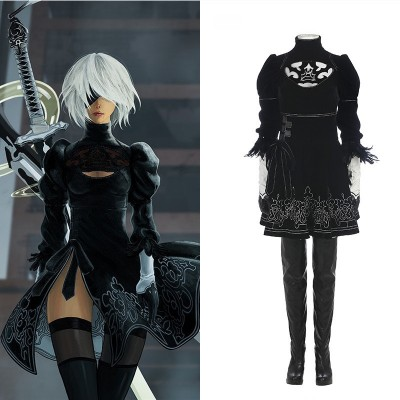 NieR: Automata 2B Cosplay Costumes - Deluxe Version