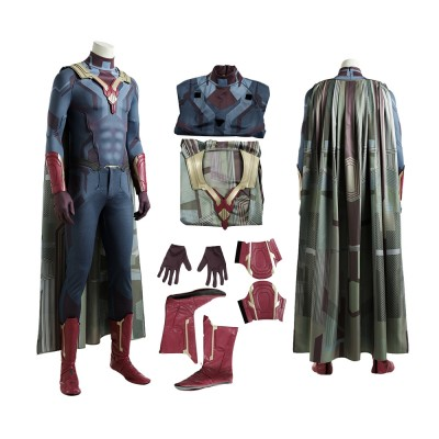 Avengers Infinity War  Vision Cosplay Costume with Cloak